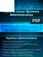 Intro to Linux Systems Administration