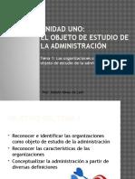 1.-El Objeto de Estudio de La Administración
