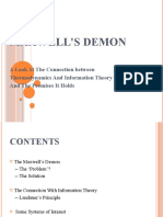 A presentation on 'Maxwell's Demon'