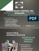 Modelos de Control Interno Auditoria Diapositivas