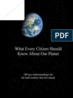 What Every Citizen Should Know About Our Planet (excerpts)