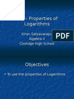 7-4 properties of logarithms