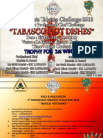 1st Indonesian Tabasco Challenge 2010_Rulebook