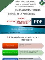 Unidad I - Introducción a La Gestión de La Producción