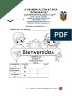 EVALUACIÓN DIAGNÓSTICA DE 2° A