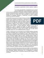 Ciencias Agroambientales y Agroalimentarias