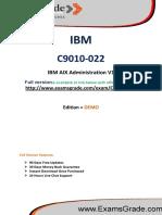 ExamsGrade C9010-022 Certification Score Training