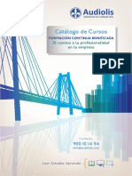 Catalogo de Cursos de Formacion Continua Bonificada Audiolis El Camino a La Profesionalidad en La Empresa