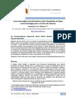 ARTIGO - Uma Abordagem Interdisciplinar sobre Qualidade da agua .pdf