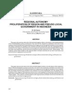 regional autonomy and proliferation