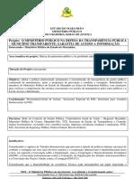 4852 Projeto Interinstitucional - o Ministerio Publico Na Defesa Da Transparencia- Municipio Transparente
