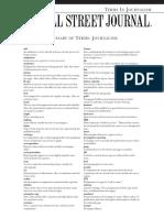 WSJ Terminology