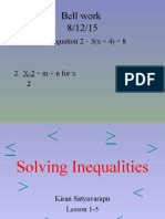 1-5 solving inequalities