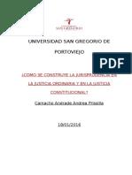 Jurisprudencia en La Justicia Ordinaria y Justicia Consitucional