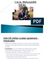 Indo US Nuclear Deal