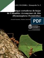 2015 Hormigas Atta Acromyrmex Colombia