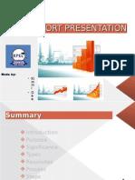 Report Presentation of Statistics