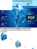 0115 Iceberg Diagram With Text Representation Powerpoint Template