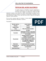 Características Del Acido Sulfúrico