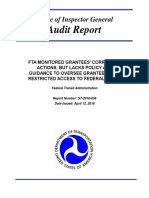 FTA Oversight of At-Risk Grantees^4-12-16