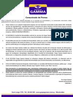 Comunicado de Prensa Grupo Gamma 0114042016