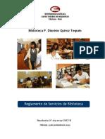Reglamento Servicios de Biblioteca 2013