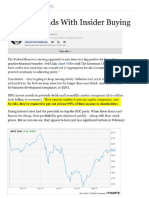 12% Dividends With Insider Buying