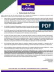 Comunicado de Prensa Grupo Gamma