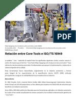 Relación Entre Core Tools e ISO_TS 16949