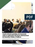 Examen del Estado Venezolano ante el Comité de Derechos Humanos de las Naciones Unidas 2015