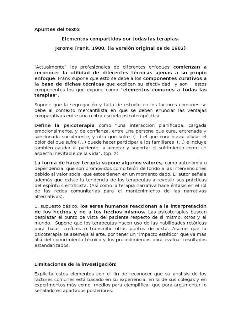 Apuntes y Apreciaciones Del Texto de Jerome FrankApuntes y Apreciaciones Del Texto de Jerome Frank