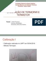 Calibração de Termopar e Termistor