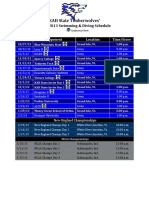 swimming   diving schedule