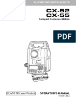 Sokkia CX-52 CX-55 Operator's Manual