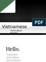 Cultural Project- Vietnamese
