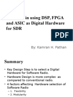 Trade-Off in Using DSP, FPGA and ASIC as Digital Hardware for SDR