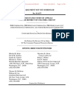 PPH Corp v. Consumer Finance Protection Bureau - Petitioners Opening Brief