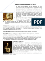 EL LIBRO DE LOS HECHOS DE LOS APOSTOLES 3° - 2016