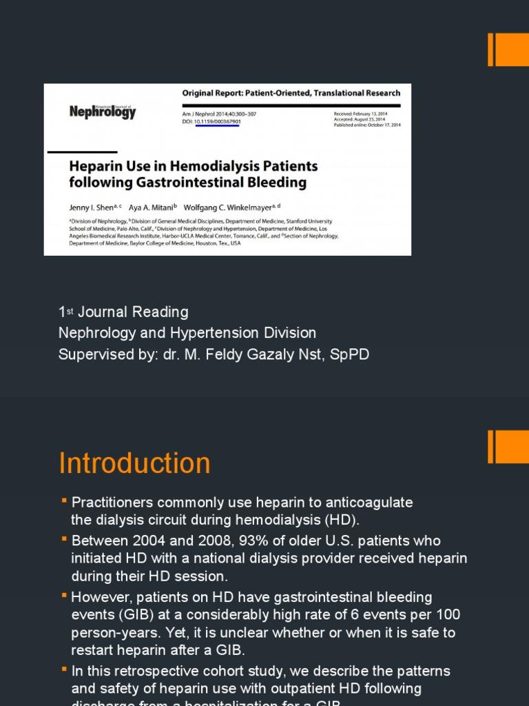 Journal 1Heparin Use in Hemodialysis Patients following