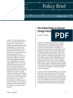 The United States in German Foreign Policy