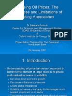 Analysing Oil Prices
