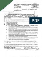 Affidavit of Termination of Child Support and Affidavit of Credit by Custodian Parent 02fc200809