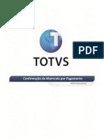 Manual de Confirmação de Matrícula Por Pagamento
