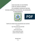 Centros de Orígenes- Centro Asiático Central