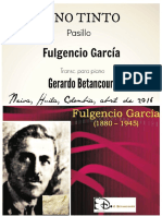 VINO TINTO. Pasillo. Fulgencio Garcia. Transcripción para piano
