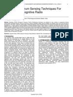 Study of Spectrum Sensing Techniques for Ofdm Based Cognitive Radio