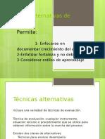 Técnicas Alternativas de Evaluación (Introduccion)