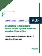 01-Prezentare Generala Carpatcement CEM III a 42 5N-LH