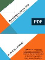 mla format   works cited presentation