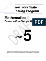 Math Common Core Sample Questions